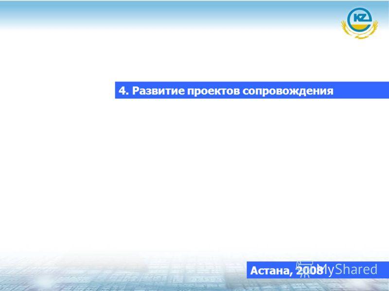 4. Развитие проектов сопровождения Астана, 2008