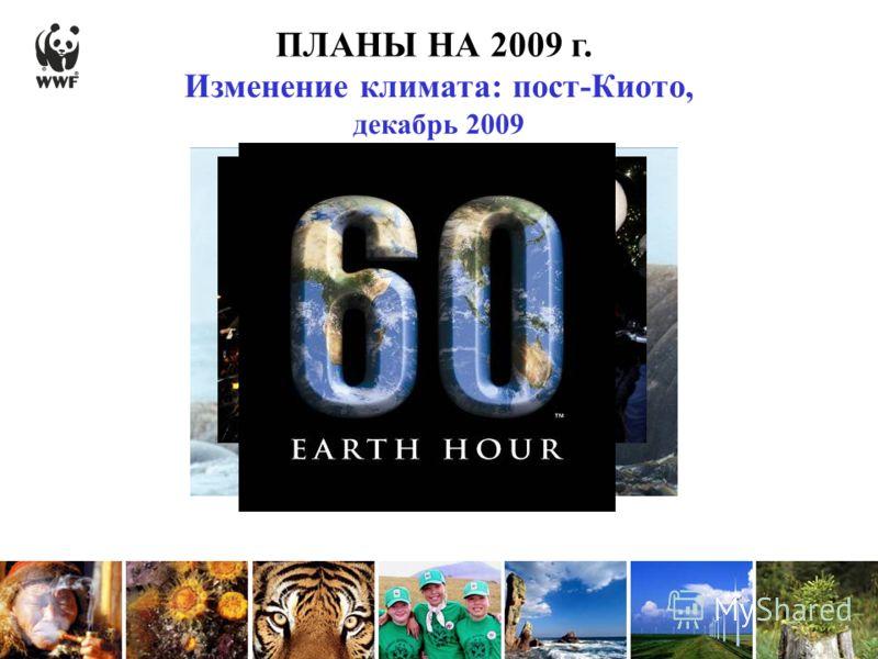ПЛАНЫ НА 2009 г. Изменение климата: пост-Киото, декабрь 2009
