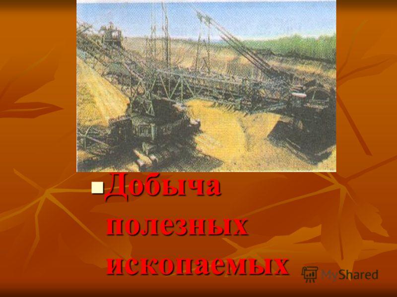Добыча полезных ископаемых Добыча полезных ископаемых