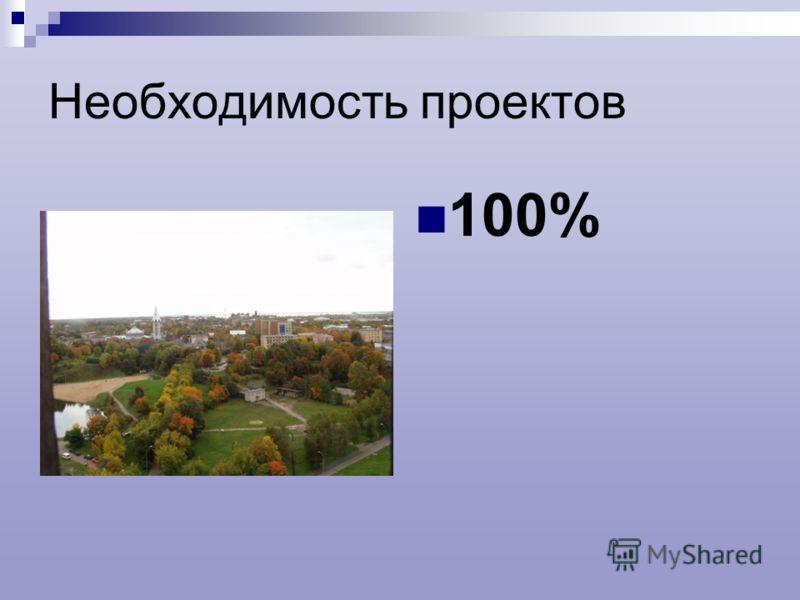 Необходимость проектов 100%