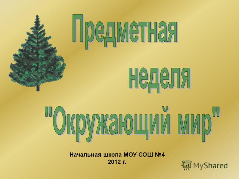 Начальная школа МОУ СОШ 4 2012 г.