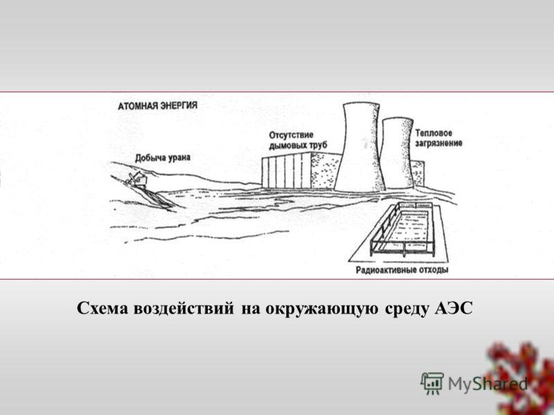 Схема воздействий на окружающую среду АЭС