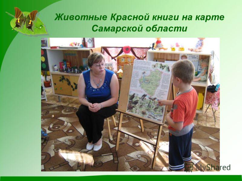 Животные Красной книги на карте Самарской области