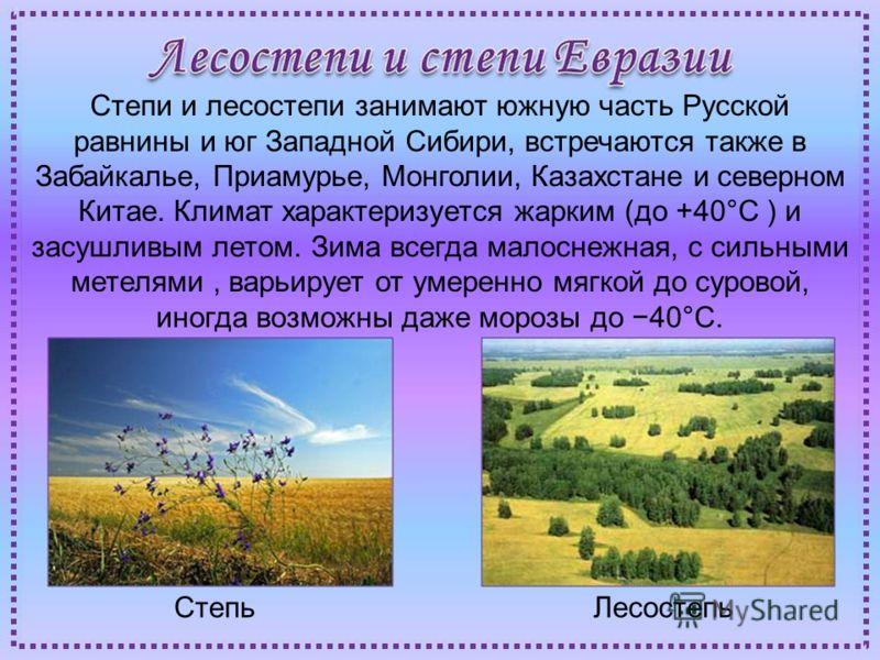 Природные условия и климат материка Евразии очень разнообразен, т.к. здесь представлены все природные зоны. Тундра Хвойные леса Лесостепи Пустыни Смешанные леса Высотная поясность Зона тундр занимает обширные области в Восточной Сибири (Якутия) и Дал
