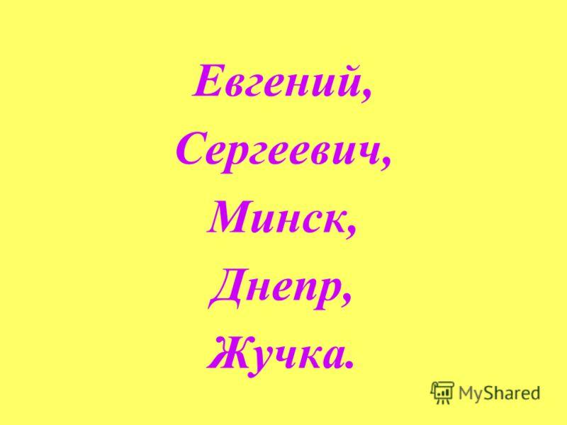 Евгений, Сергеевич, Минск, Днепр, Жучка.