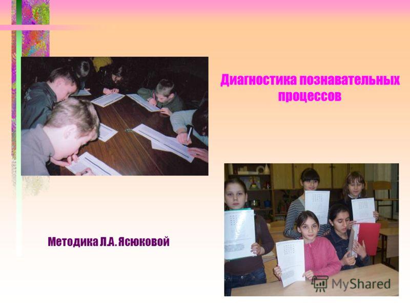 Диагностика познавательных процессов Методика Л.А. Ясюковой