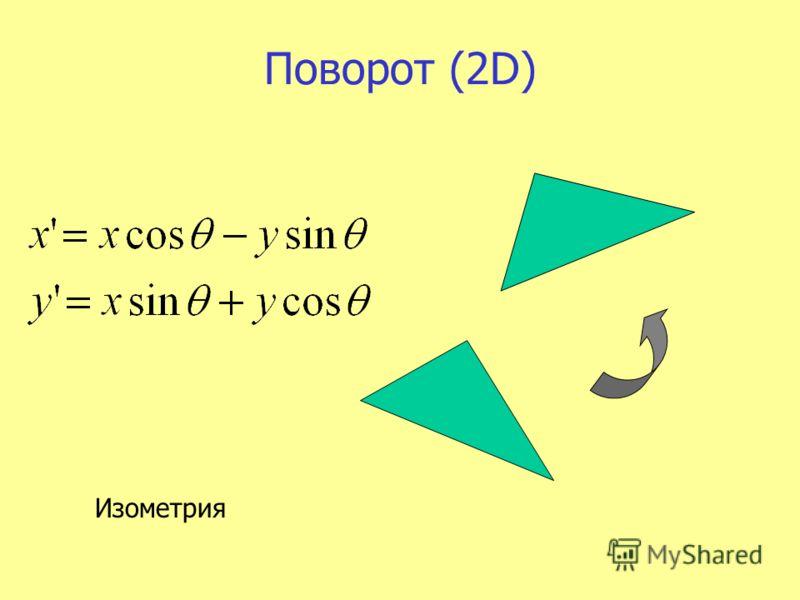 Поворот (2D) Изометрия