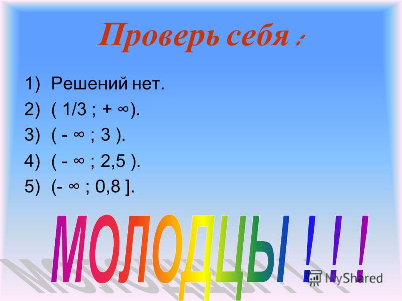 Реши неравенства : 1)2(х + 8 ) - 5х < 4 – 3х 2)При каких значениях Х двучлен 3х -1 принимает положительные значения? 4) При каких натуральных значениях n сумма ( - 27,1 + 3n ) + (7.1 + 5n ) отрицательна ? больше соответствующих значений 6 дроби 3у -