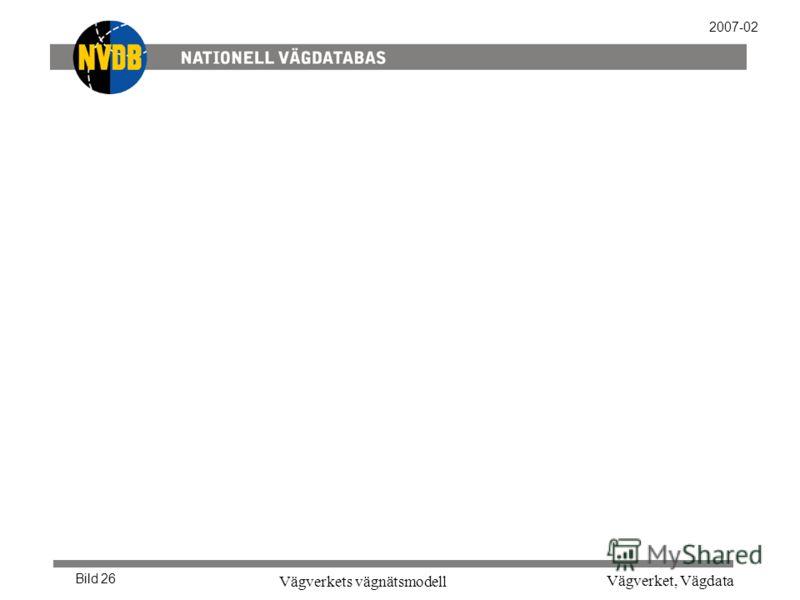 Vägverket, Vägdata Vägverkets vägnätsmodell Bild 26 2007-02