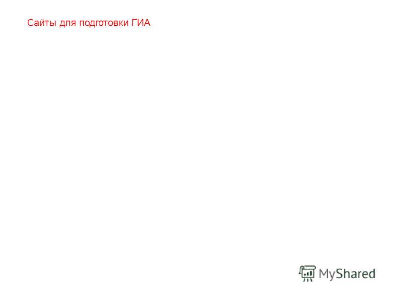 Сайты для подготовки ГИА
