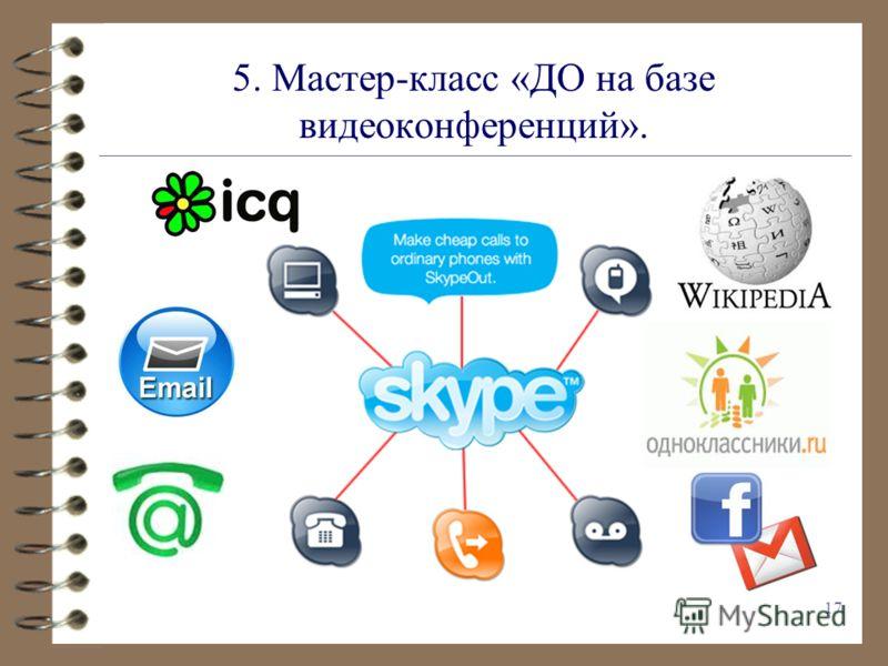 5. Мастер-класс «ДО на базе видеоконференций». 17