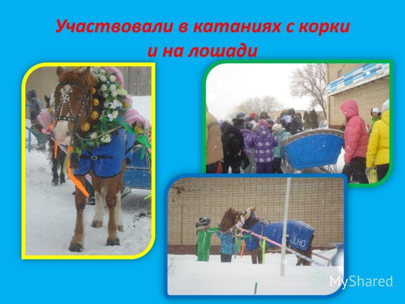 Участвовали в катаниях с корки и на лошади