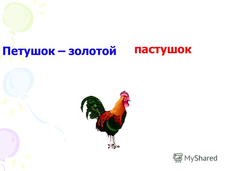 Петушок – золотой пастушок гребешок