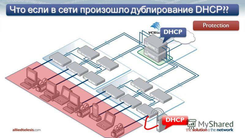 Что если в сети произошло дублирование DHCP ?? ProtectionProtection DHCP