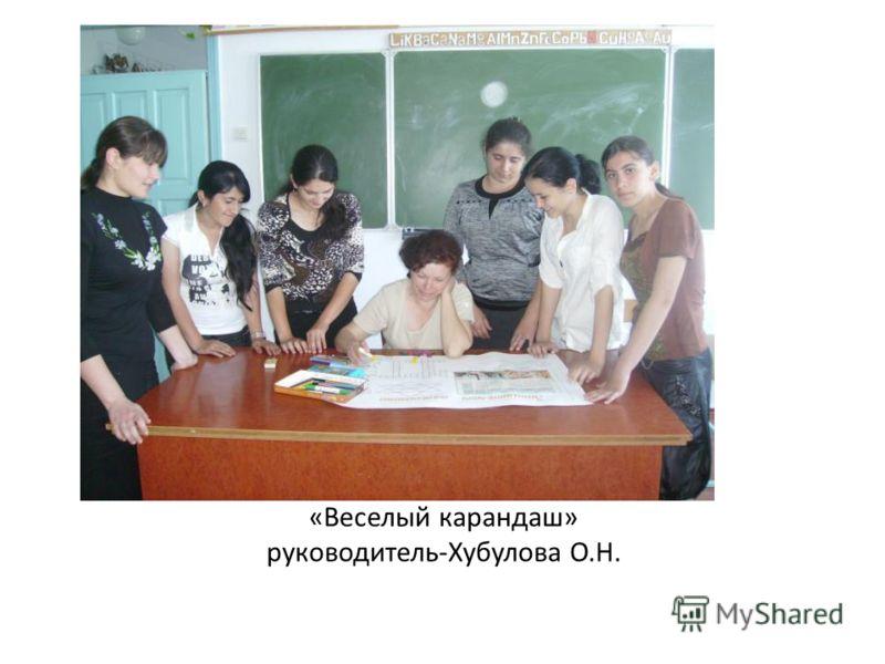 «Веселый карандаш» руководитель-Хубулова О.Н.