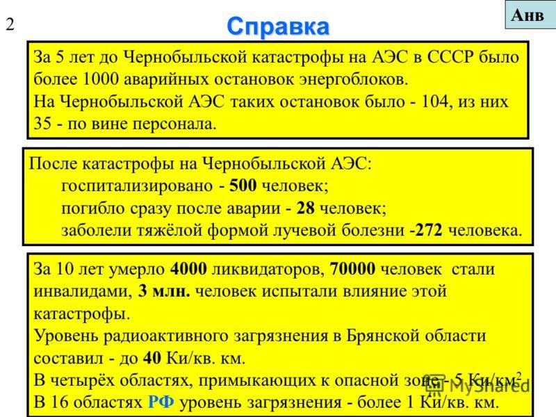 Радиационно опасные объекты (РОО) - это АЭС, испытательные ядерные взрывы; атомные суда, корабли, подводные лодки, реакторы в научно-исследовательских центрах, примышленные установки по дефектоскопии. За период с 1971 года в мире на АЭС произошло око