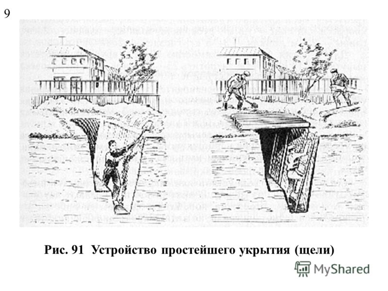 Рис. 90 Противорадиационное укрытие 8
