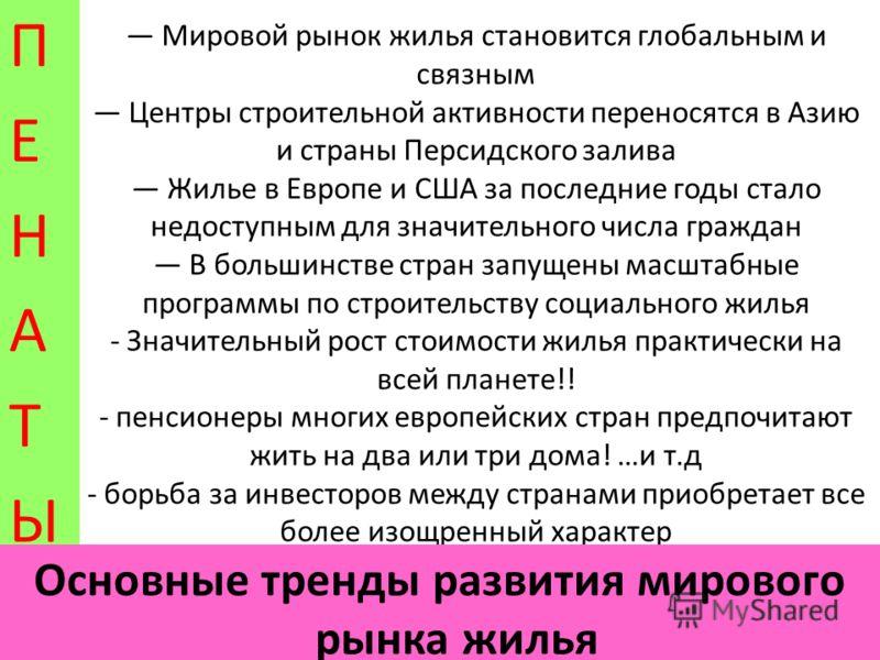 «Влияние природных катаклизмов на рынок недвижимости в России и за рубежом» ПЕНАТЫПЕНАТЫ САНКТ-ПЕТЕРБУРГ, 24 сентября 2010 года