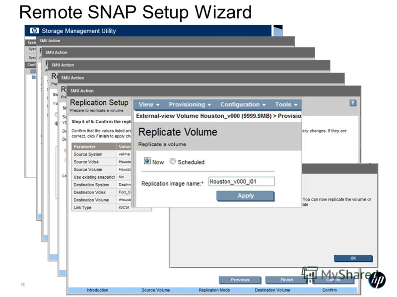 16 Remote SNAP Setup Wizard