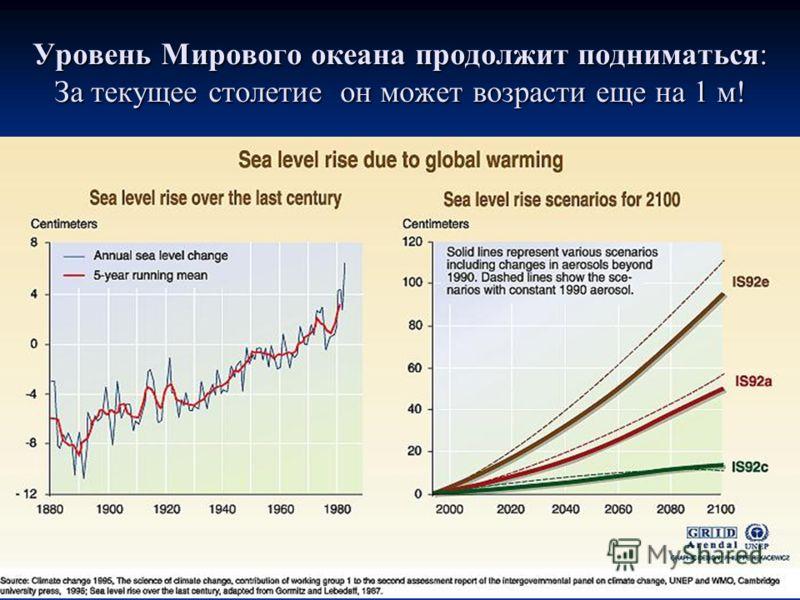 Уровень Мирового океана продолжит подниматься: За текущее столетие он может возрасти еще на 1 м!