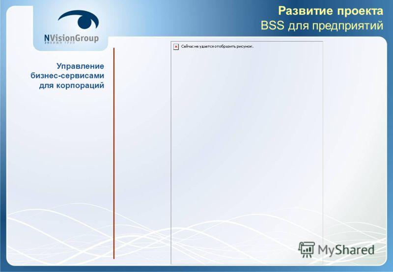 Развитие проекта BSS для предприятий Управление бизнес-сервисами для корпораций