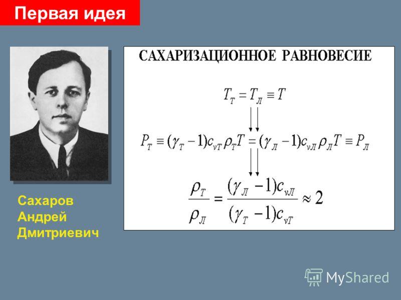 Первая идея Сахаров Андрей Дмитриевич