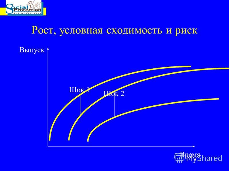 Рост, условная сходимость и риск Время Шок 1 Шок 2 Выпуск