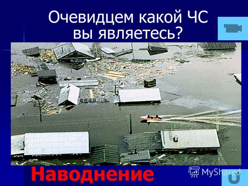 Очевидцем какой ЧС вы являетесь? Наводнение