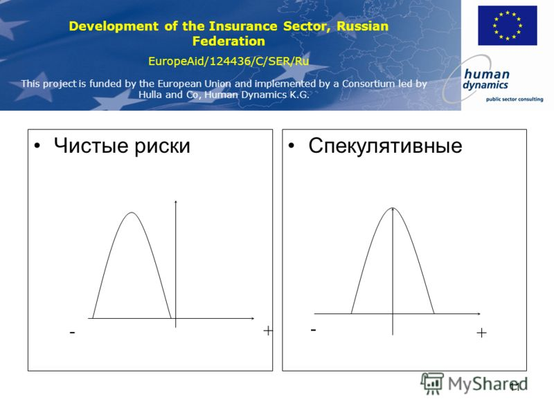 Development of the Insurance Sector, Russian Federation EuropeAid/124436/C/SER/Ru This project is funded by the European Union and implemented by a Consortium led by Hulla and Co, Human Dynamics K.G. 10 Другие риски Риски репутационные Риски стратеги