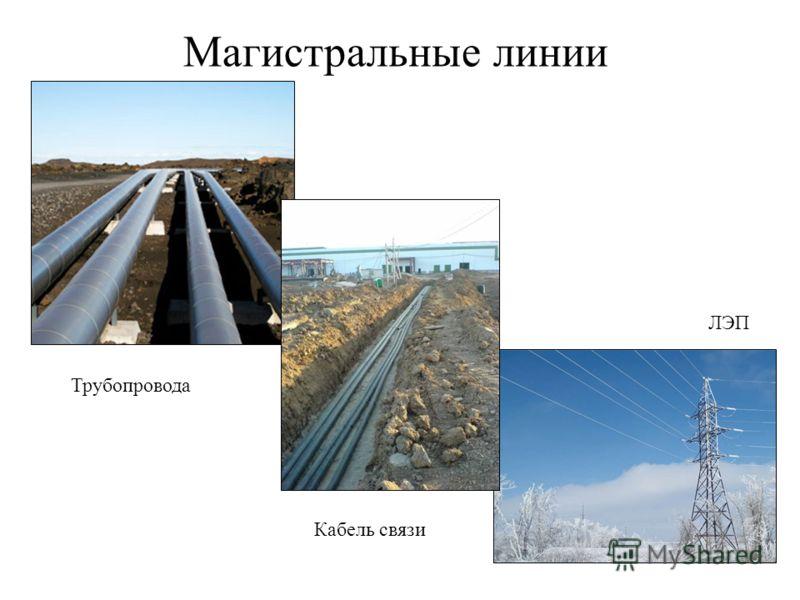 Трубопровода Кабель связи ЛЭП Магистральные линии