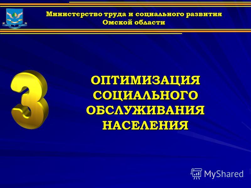ОПТИМИЗАЦИЯ СОЦИАЛЬНОГО ОБСЛУЖИВАНИЯ НАСЕЛЕНИЯ Министерство труда и социального развития Омской области