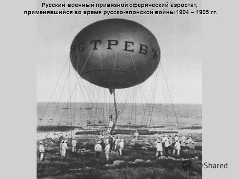 Русский военный привязной сферический аэростат, применявшийся во время русско-японской войны 1904 – 1905 гг. применявшийся во время русско-японской войны 1904 – 1905 гг.