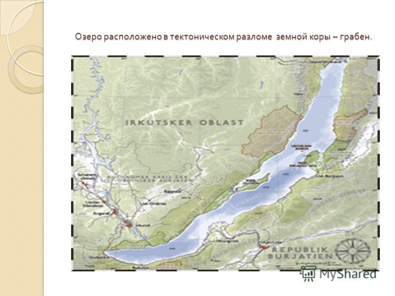 Озеро расположено в тектоническом разломе земной коры – грабен.