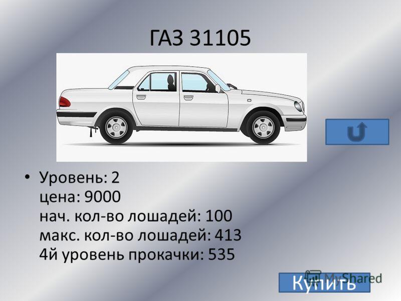 LADA 2170 Priora Уровень : 2 Цена : 11 000 Нач. кол-во лошадей : 98 Макс.кол-во лошадей :441 4й уровень : 576 Купить