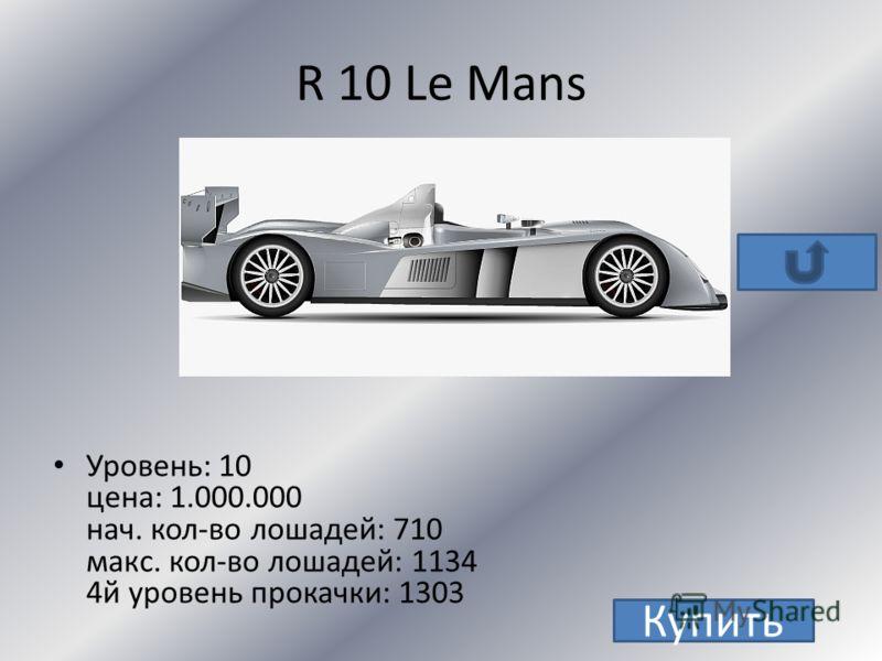 AUDI RS6 Avant R8 80 TT TT S R 10 Le Mans