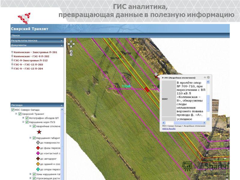 ГИС аналитика, превращающая данные в полезную информацию