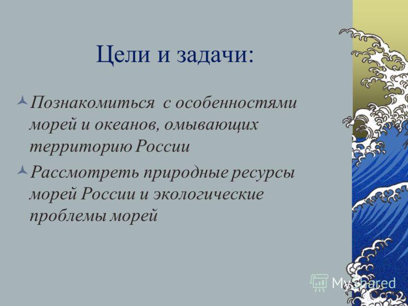 Моря, омывающие берега России