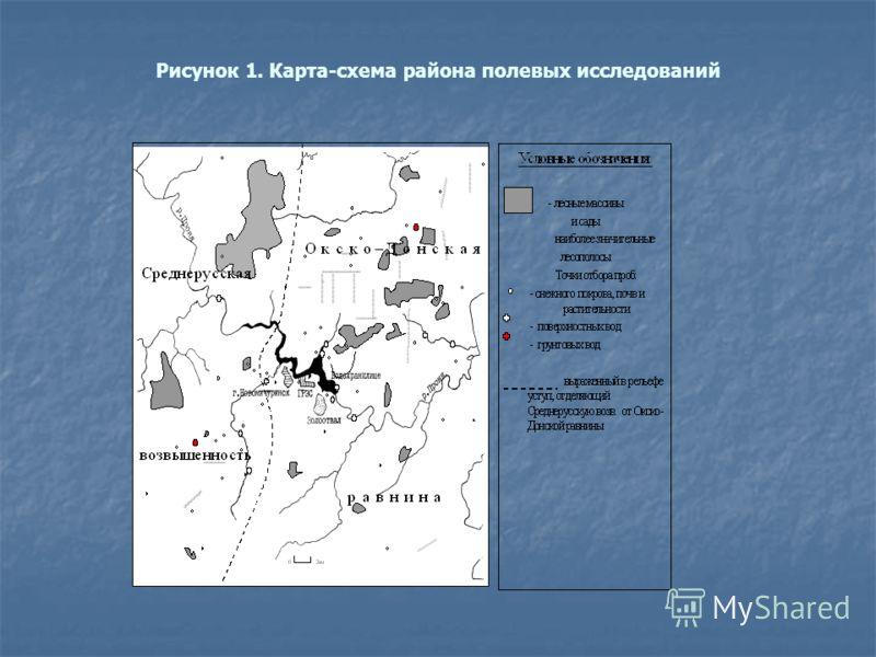 Рисунок 1. Карта-схема района полевых исследований
