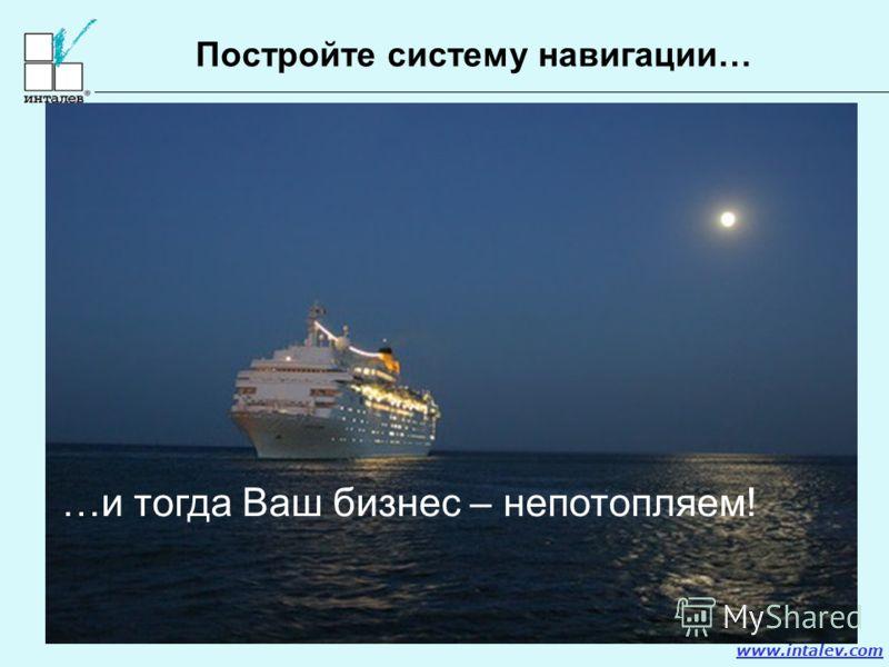 www.intalev.com Постройте систему навигации… …и тогда Ваш бизнес – непотопляем!