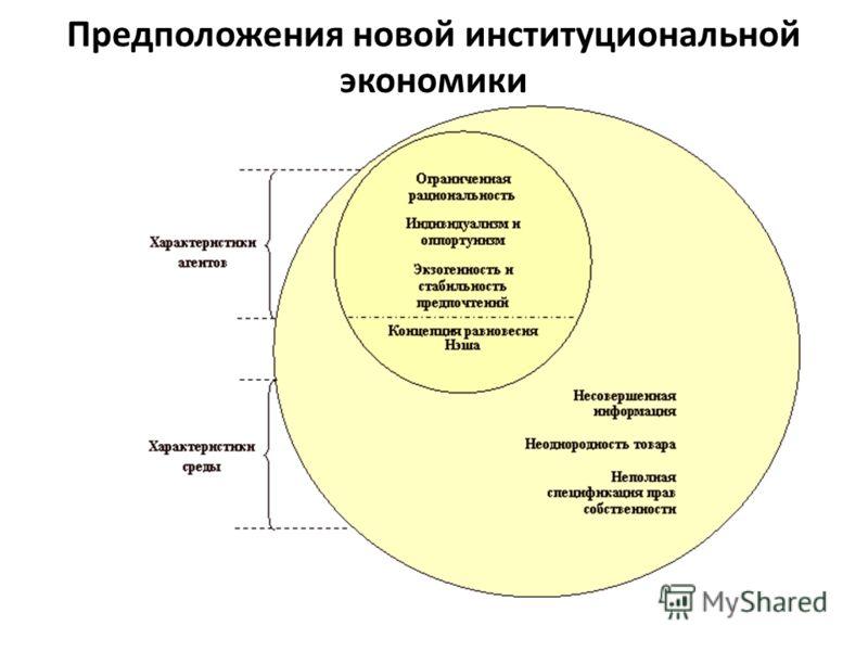 Предположения новой институциональной экономики