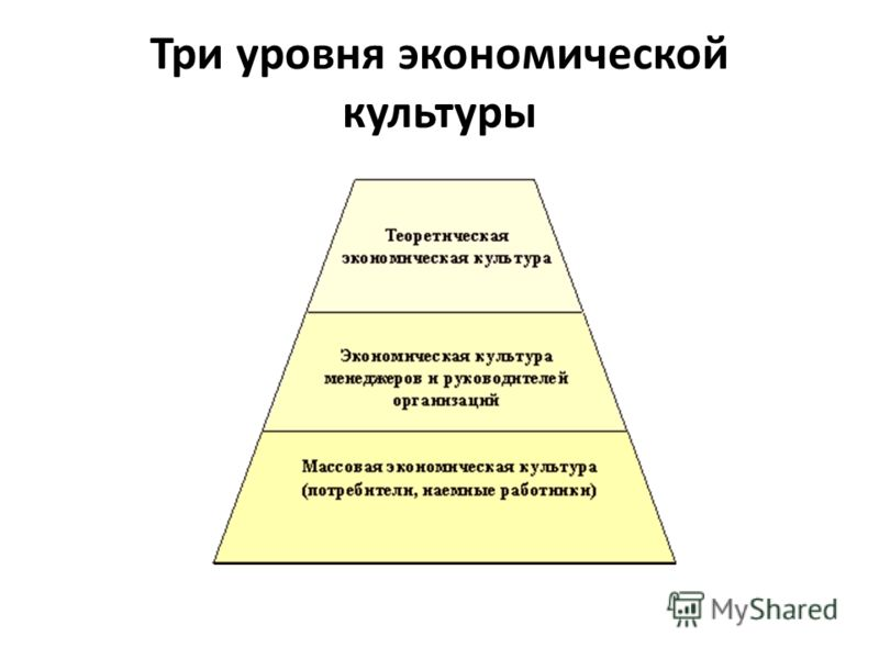 Три уровня экономической культуры