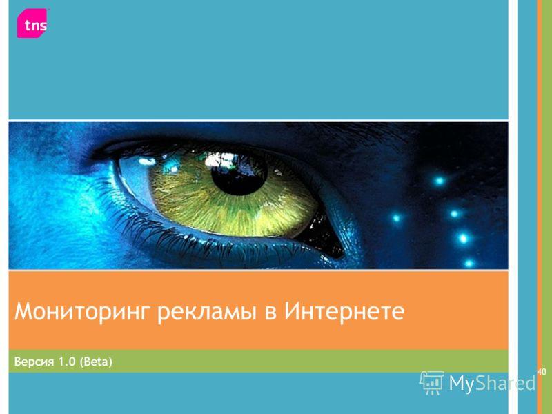 Версия 1.0 (Beta) Мониторинг рекламы в Интернете 40