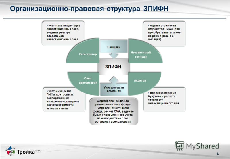 6 Организационно-правовая структура ЗПИФН