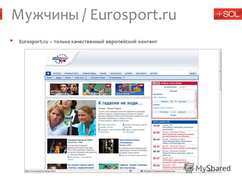Мужчины / Eurosport.ru Eurosport.ru – только качественный европейский контент