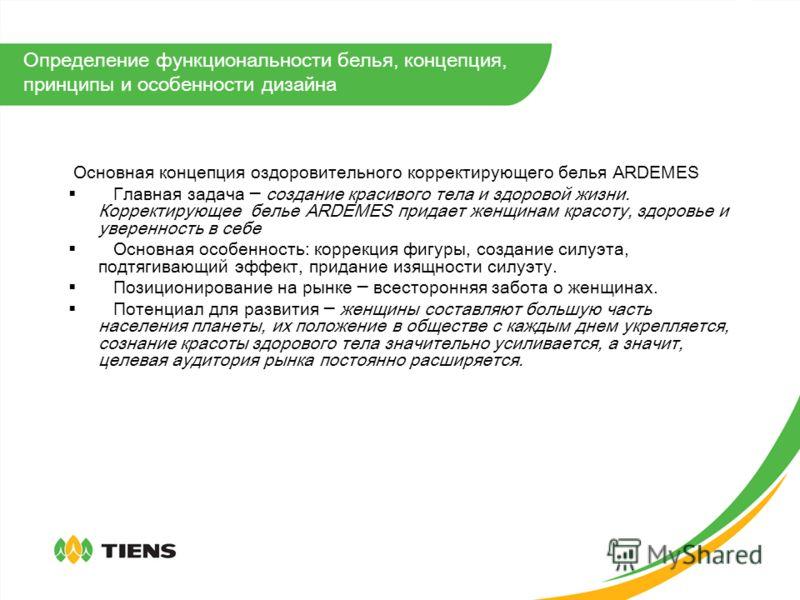 2. Определение функциональности белья Ardemes, концепция, принципы и особенности дизайна ARDEMES