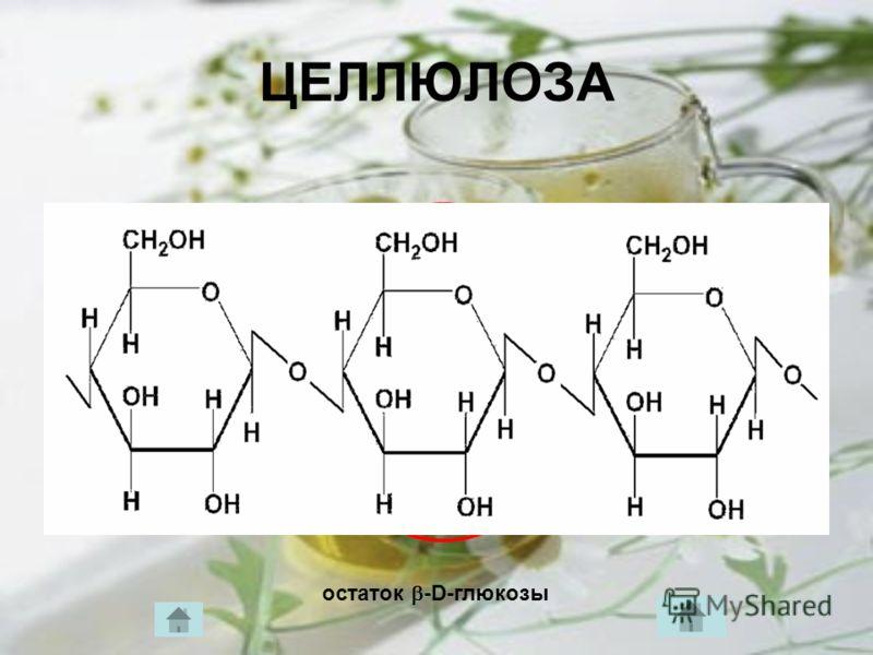 ЦЕЛЛЮЛОЗА остаток -D-глюкозы