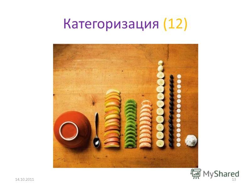 Категоризация (12) 14.10.201113