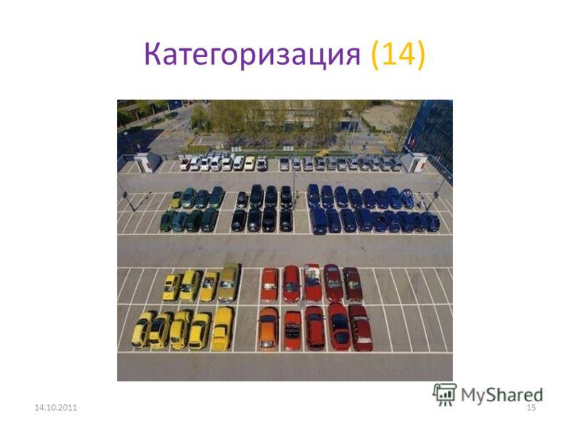 Категоризация (14) 14.10.201115