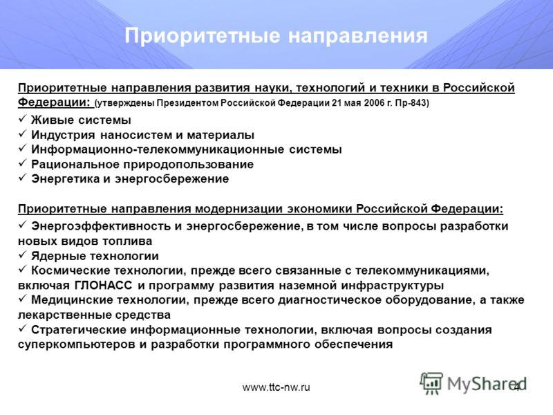 www.ttc-nw.ru3 Федеральная целевая программа Федеральная целевая программа