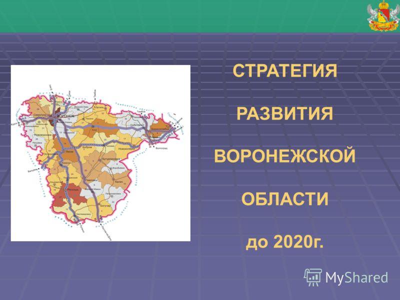 1 СТРАТЕГИЯ РАЗВИТИЯ ВОРОНЕЖСКОЙ ОБЛАСТИ до 2020г.